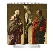 The Crucifixion With The Virgin And Saint John Shower Curtain