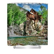 The Crystal Mill In Crystal Colorado Shower Curtain by Ken Smith