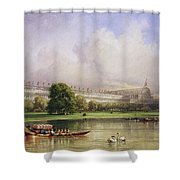 The Crystal Palace Seen From The Serpentine Shower Curtain