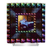 The Crystal Shell - Illuminated Shower Curtain