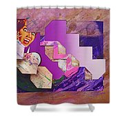 The Cubist Scream Shower Curtain