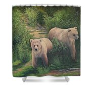 The Cubs Of Katmai Shower Curtain