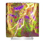 The Cure For Inflation Shower Curtain
