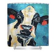 The Curious Cow Shower Curtain