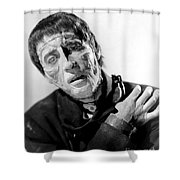 The Curse Of Frankenstein Christopher Lee 1957 Shower Curtain