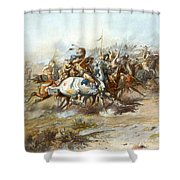 The Custer Fight Shower Curtain
