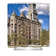 The Customs House Clock Tower Shower Curtain
