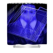 The Cyber Office Shower Curtain