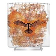 The Da Vinci Flying Machine Shower Curtain
