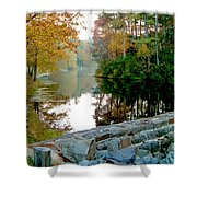 The Dam At Peaks Of Otter Shower Curtain
