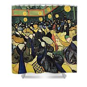The Dance Hall At Arles Shower Curtain by Vincent Van Gogh