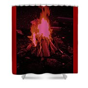 The Dance Of Fire Shower Curtain
