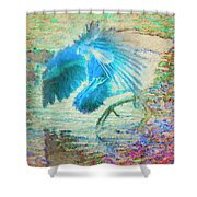 The Dance Of The Blue Heron Shower Curtain