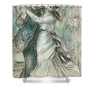The Dance Shower Curtain by Pierre Auguste Renoir