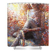 The Dancer In Ardent Shower Curtain