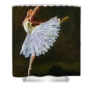 The Dancing Ballerina Shower Curtain