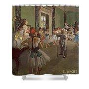 The Dancing Class Shower Curtain by Edgar Degas