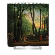 The Dancing Glade At Sorgenfri Shower Curtain