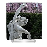 The Dancing Lesson Statue Shower Curtain