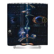 The Danse Macabre Shower Curtain