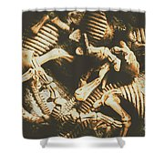 The Dark Dinosaur Abstract Shower Curtain