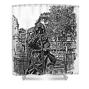 The Dark Knight II Shower Curtain