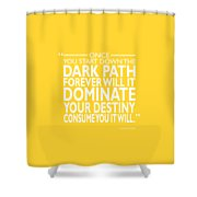 The Dark Path Shower Curtain