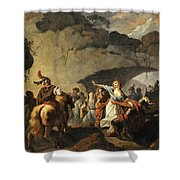 The Daughter Of Ariovistus Made Prisoner By Caesar During The Germans' Defeat Shower Curtain