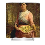 The Daughters Of Our Empire. England- The Primrose Shower Curtain