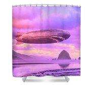 The Dawn Patrol Shower Curtain