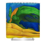 The Day And Night. Shower Curtain