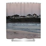 The Day Is Done At Long Sands Beach Shower Curtain