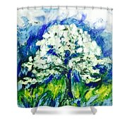 The Day Of Tree Shower Curtain