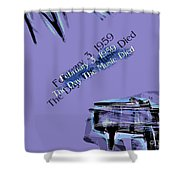 The Day The Music Died - Feb 3 1959 Shower Curtain