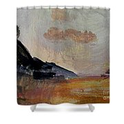 The Day's Glow Shower Curtain