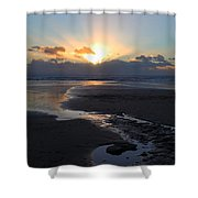 The Days Last Rays At Dunraven Bay Wales Shower Curtain
