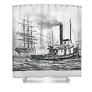 The Days Of Steam And Sail Shower Curtain