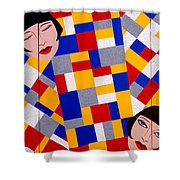 The De Stijl Dolls Shower Curtain