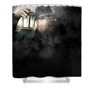 The Dead Of Night Shower Curtain