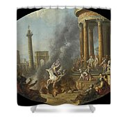 The Death Leap Of Marcus Curtius Shower Curtain