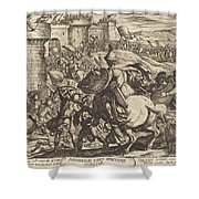 The Death Of Abimelech Shower Curtain