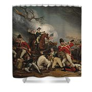 The Death Of General Mercer At The Battle Of Princeton, January 3, 1777  Shower Curtain
