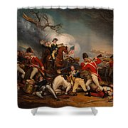 The Death Of General Mercer At The Bottle Of Princeton Shower Curtain