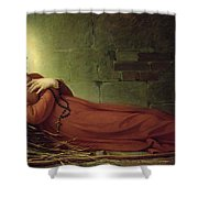 The Death Of Germaine Cousin The Virgin Of Pibrac Shower Curtain by Alexandre Grellet