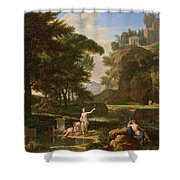 The Death Of Narcissus Shower Curtain