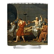 The Death Of Socrates Shower Curtain