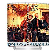 The Declaration Of Independence  Shower Curtain by Lanjee Chee