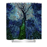 The Deep Wood Shower Curtain