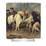 The Deerstalkers Return Shower Curtain by Sir Edwin Landseer
