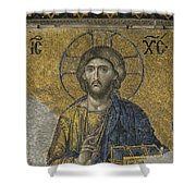 The Dees Mosaic In Hagia Sophia Shower Curtain